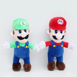 Wholesale Baby Mario Games - 2 Style 25CM MARIO & LUIGI Super Mario Bros Plush Doll Stuffed Toys For Baby Good Gifts