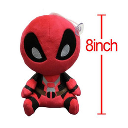 Wholesale Pp Cotton Stuffing - .New Movies Deadpool Plush Toys soft doll PP cotton 20cm Deadpool Stuffed Animals Baby Toys free shipping