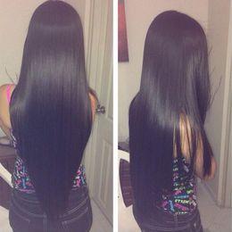 Wholesale 4bundles Virgin Indian Hair - 4Bundles Brazilian Virigin Hair Straight 7A Human Hair Extensions Peruvian Brazilian Human Straight Weaves Brazilian Virgin Hair