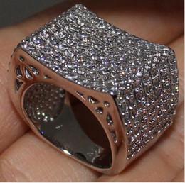 Wholesale Diamond Wedding Bands 14k - Eternity 14K White Gold Filled Round Simulated Diamond CZ Pave Set Engagement Wedding Band Ring for Women