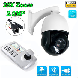 Wholesale Cctv Controllers - 20x Optical Zoom HD 1080P 2MP CCTV PTZ IP Camera Outdoor + Keyboard Controller