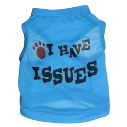 Wholesale Fiber Socks - New Trouble Maker I have Issues Dog Apparel Fashion Cute Dog Vest Pet sweater Puppy Shirt Soft Coat Jacket Summer Dog Cat Clothes