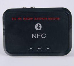 Wholesale Nfc Bluetooth Receiver - 2016 New Wholesale NFC Desktop Bluetooth Receiver B10 NFC desktop bluetooth receiver color black white with retail box