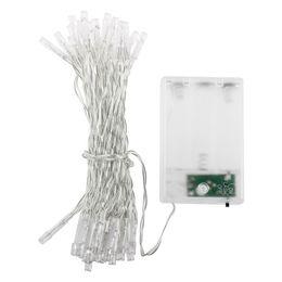 le luci fiabesche funzionano a batteria all'ingrosso Sconti Wholesale- 40 LED 13 Feet Battery Operated Christmas Wedding Fata decorativa String Lights-bianco
