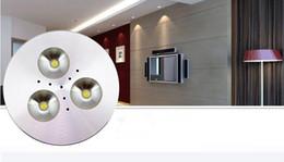 Discount led cree lamp bulb 6w - Super Bright 6W Dimmable LED Puck light 3x2W CREE LED Puck lamp 500lm led cabinet bulb lamp AC110V AC220V AC230V