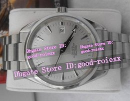 Wholesale Gents Bracelets - Top Quality Men's Automatic Movement Ocean Watch Silver Dial Stainless Steel Bracelet Co Axial Gents Auto Date Watches