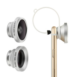 Wholesale Three Mobile Cell Phones - For iphone 8 Cell Phone Photograph Accessories Apple mobile phone universal three-in-one effects lens (fish eyes, wide angle, macro)