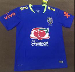 Wholesale National Soccer Team Uniform - brazil national team 17 18 soccer jersey football uniform home away jerseys shirt onsale shirts neymar jersey free shipping S-2XLtraining