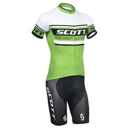Wholesale Jersey Pants Cycling Scott - Scott Summer Cycling Jersey Sets Green Mens Cycling Suit Ropa Ciclismo Quick Dry Bicycle Racing Clothes Wear Padded Pants Breathable Garment