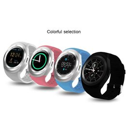 Wholesale Touch Watches Sale - 2017 Hot sale Y1 Smart Watch Round Touch Screen Wrisbrand with SIM Card Slot for iPhone Samsung Android Free Shipping
