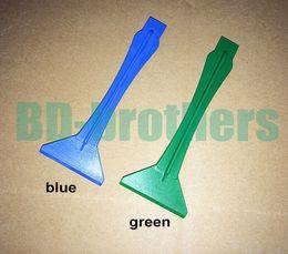 Wholesale Spatula Shovel - Blue Plastic Pry Tool Prying Tools Triangle Shovels Spatula Crowbar Tool for iPhone iPad Tablet PC LCD Repair 1000pcs lot
