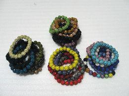 Pulseras de bolas brillantes online-Crystal 20 Beads Bracelets Disco Ball Pulseras brillantes Joyería Brazalete Barato China Joyería de moda pulseras del encanto del abrigo 25pcs