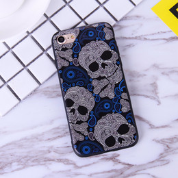 Wholesale Cool Design Iphone 5s Cases - Fashion Cool Punk Skull Design silicone mental Handmade Human For Apple iphone 7 puls skeleton For iPhone 5S 6 6S 6 Plus Case