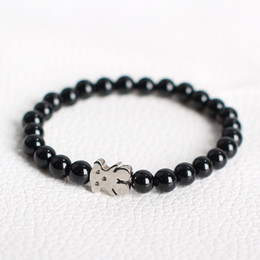 Wholesale Popular Stones - TL Stone Beads Bear Rope Bracelet Hand Made For Women Manual Popular Fashion Unique Design New
