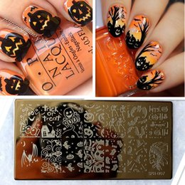 Wholesale Halloween Nail Art Stamps - Wholesale- Amazing DIY Halloween Nail Art Ideas Nail Art Stamp Template Image Plate DIY Easy Christmas Nail Art Stamping Tool