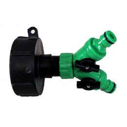 """Wholesale Push Connectors - IBC ADAPTER to Twin 1 2"""" (13mm) Snap on Push Fit Hose Connector. c w ON OFF Taps free shipping"""