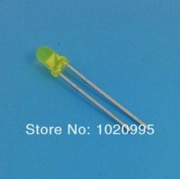 led super bright 3mm with best reviews - 1000PCS LOT Super bright diffused 3MM Yellow LED light emitting diode F3mm Yellow LED Round Free shipping!