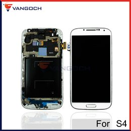 Wholesale Lcd Galaxy S4 I337 - Original Quality For Samsung Galaxy S4 i9500 i9505 I545 I337 i9502 LCD Display Touch Screen Digitizer Assembly with Frame Repair Replacement