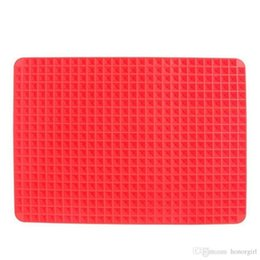 Wholesale Silicone Microwave Oven Mat - Useful Pyramid Pan Silicone Non Stick Fat Reducing Mat Microwave Oven Baking Tray Sheet Non Stick Fat Reducing Silicone Cooking fashion