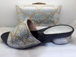 Wholesale Best High Quality Wedding Dresses - Good Sale African Shoes And Bag Set Women Wedding Shoes Dress High pumps Best Quality Shoes And Bag To Match AB3-7