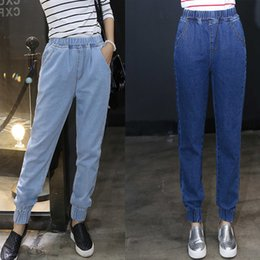Wholesale Harem Jeans Sold - New Hot Good Selling Students Girls Women Casual Fashion Elastic Denim Jeans Harlan Pants Trousers Clothes 2329