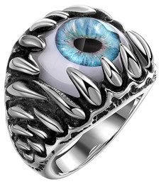 bague de fiançailles en titane d'or Promotion Anneau Monster yeux en gros Lord of the Ring roi S925 Engagement Anniversaire Cadeau de Noël titane dame or IT CA Dimond femme Paris Pt