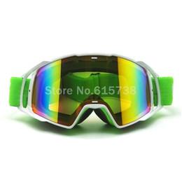 Verres teintés verts en Ligne-vert foncé bande noire lunettes de moto lunettes lunettes de motocross vélo cross country lunettes flexibles teinté UV