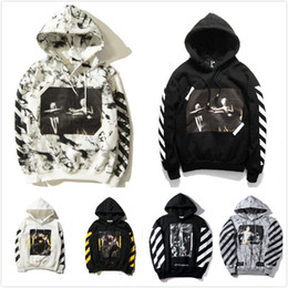 Wholesale Black Color Paint - 13 hoodie mens pullover stripe print fleece Sweatshirts brand HBA Vision religion painting VIRGIL ABLOH Hoodies