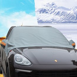 Wholesale Ice Car Cover - Universal Car Windshield Snow Cover Truck SUV Ice Free Protector Sun Shield with Storage Pouch for you
