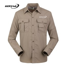 Wholesale Men Over Coats - Wholesale-Summer Outdoor Hiking Fishing Shirt Quick Dry Breathable Sports Men Over Uv Resistant Camping travel jogging Fashion casual coat
