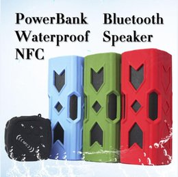 Wholesale Computer Power Bank - 2016 New Portable Bluetooth Speakers With Charger Function 3600MA Powerbank Speaker Bluetooth V4.0 Waterproof NFC Speaker Power bank