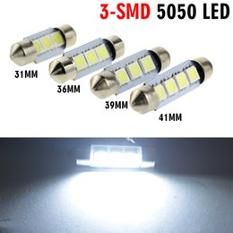 Wholesale 41mm White Bulb Reading Light - 31mm 36mm 39mm 41mm LED Dome Festoon 3x5050 smd leds interior Lamp White Light bulb