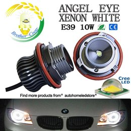 Wholesale Ring E53 - 1pair mini E39 10W 6500K Angel Eye Halo Ring for BMW E60 M5 X5 E53 E66 X3 E87 (Mini Shape)