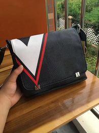 Wholesale File Slots - New leather horizontal bag office bag men file briefcase traveling bag
