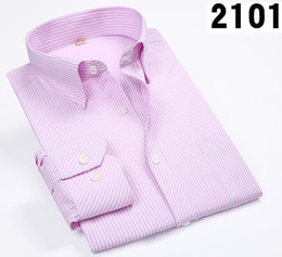 Wholesale 6xl Mens Dress Shirt - Men Shirts Male Striped Formal Dress Shirt Long Sleeve Mens Brand Casual Shirts Plus Big Size 5XL 6XL