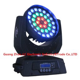 Wholesale Led Zoom Rgbw - Professional LED Moving Head Wash Light With Zoom Function 36pcs 10w RGBW 4in1 17 18CH AC100V-240V