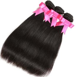 Wholesale Brazilian Remy Hair For Cheap - 7a Grade Virgin Unprocessed Peru Human Hair Weave Cheap Straight Peruvian Hair Bundles For Wholesale Natural Color 1B Dyeable Free Shipping