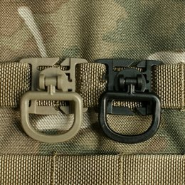 Wholesale Green Snap Clips - 3pcs Backpack Shackle Carabiner Snap D-Ring Clip Locking 360 DGE Rotating Black and Army green New Arrival