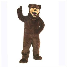 Wholesale New Grizzly Bear Mascot Costume - hot new rapid custom cunning Grizzly Bear Mascot Costume Adult Evening Dress Halloween