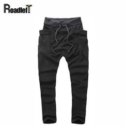 Wholesale Cotton Pant Baggy Hip Hop - Wholesale-Men   Boy hip hop harem pants low crotch joggers Mens parkour track pants cotton sweatpants men baggy gym sport pants,8 color