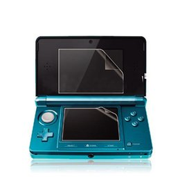 Wholesale Lcd Nintendo - New Arrival Top Selling Clear Top + Anti Scratch Crystal Clear Bottom LCD Screen Protector Film Guard For Nintendo For 3DS
