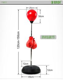 Wholesale Punch Balls - Wholesale-4 levels adjustable Vertical Speed Balls Boxing Punching Balls Fist Hitting Vent Balls tumbler