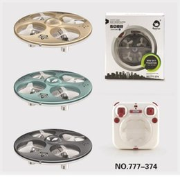 Wholesale Rc Ufos Wholesale - DHL HappyCow 777-374 2.4G Mini Sky Phantom 6CH RC UFO Drone Quadcopter 6-Axis Gyro Drone Radio Remote Control Helicopter Drones Quadcopter