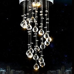 2019 luci a scala a spirale Moderno lampadario di cristallo illuminazione nuove luci di cristallo moderno Spirale Drop lampadari di cristallo Luci scale per scale luci a scala a spirale economici