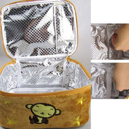 Wholesale Lunch Boxes Heat Food - USB Food Lunch Warmer Box Bag Cute Monkey Warming Heating Container Bags Lunch Box Bag Thermal Termal Bag Lunch E5M1 order<$18no track