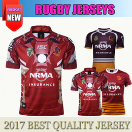 Wholesale Mustang Shirt Xl - Free Shipping 2017 2018 Wild Horse Hero version Home Rugby Jerseys Top Thailand Quality 17 18 Brisbane Mustang Rugby Wear Shirts Size S-3XL