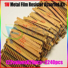 Wholesale 1w Resistors - Wholesale- New!! 1W Resistor Carbon Film Resistor Assorted Kit, Sample bag,0.33R~4.7M,122ValuesX20PCS=2440PCS