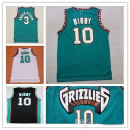 Wholesale Basketball Mike - Best Quality Vancouver #10 Mike Bibby jersey #50 Bryant Reeves Stitched Mesh retro basketball Jersey free shipping