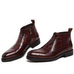 sapatos curtos homens curtos Desconto Em 2017 o novo popular moda sapatos de couro dos homens de moda botas curtas botas de vestido de noiva, sapatos de lazer