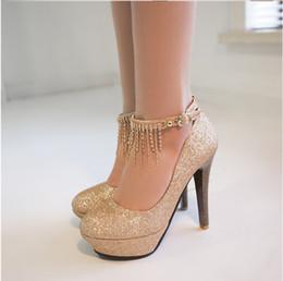 255e1644834 zapatos de plata de la dama de honor del brillo Rebajas 2016 primavera alta  con una